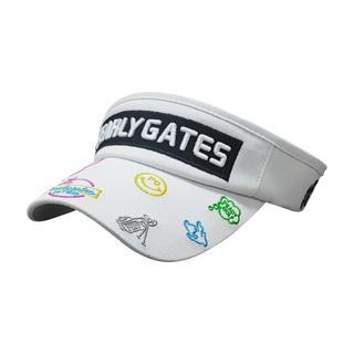 パーリーゲイツ(PEARLY GATES)の女性用 PEARLY GATES ゴルフ帽子 キャップ サンバイザー(キャップ)