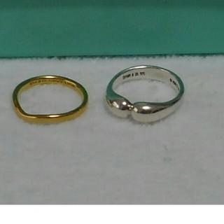 ティファニー(Tiffany & Co.)のティファニー 18金ウェディングバンド10号 シルバーリング11号2本セット(リング(指輪))