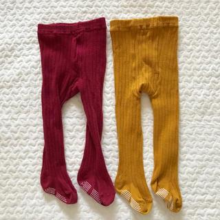 シマムラ(しまむら)の中古❁ベビー リブタイツ 2色セット(靴下/タイツ)