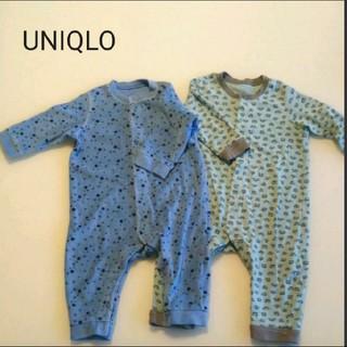 UNIQLO - UNIQLO ユニクロ 長袖 ロンパース 二枚セット