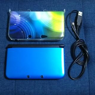 ニンテンドー3DS - 3DSLL(ブルー×ブラック) カバー&充電コード付き
