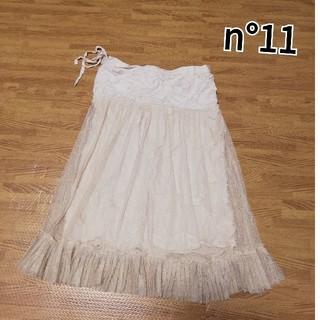 ナンバージュウイチ(n゜11)のn°11  ナンバージュウイチ レーススカート(ひざ丈スカート)
