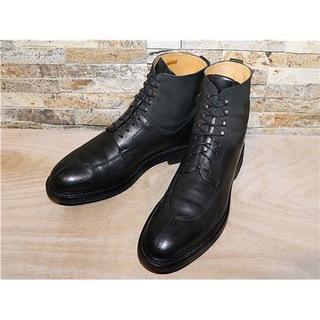 エシュン(HESCHUNG)のフランス製 エシュン アンクルブーツ 黒 28,5cm EU9,5 定価8万円(ブーツ)
