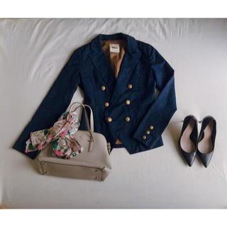 ミーア(MIIA)のMiiA ミーア ネイビーテーラードジャケット 金ボタン スリム 紺ブレ(テーラードジャケット)