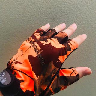 ☆釣り ゴルフ 自転車 手袋 フィッシング 半指手袋(ウエア)