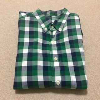 MUJI (無印良品) - 無印良品 チェックシャツ 緑