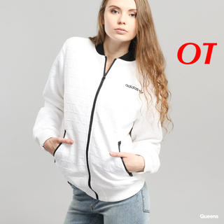アディダス(adidas)の【レディースOT】白  ボンバージャケット  アディダスオリジナルス(ブルゾン)