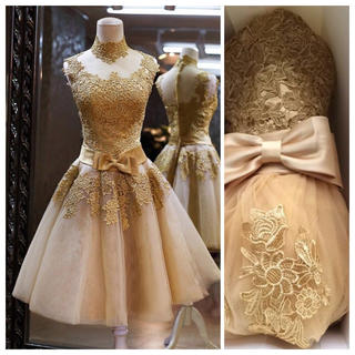 新品送料込ゴールドドレスカラードレス(その他ドレス)