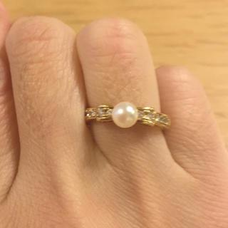 18K パールとダイヤの指輪(リング(指輪))