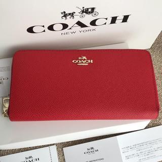 COACH - [新品未使用] COACH コーチ 長財布 F52372 赤色