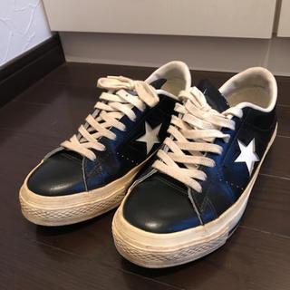 コンバース(CONVERSE)のコンバース ワンスター 黒×白 4(スニーカー)