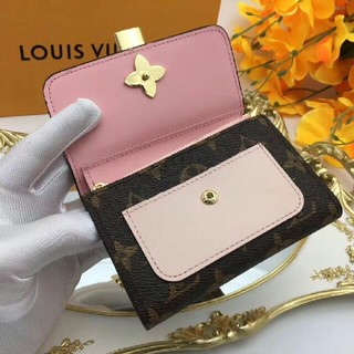 LOUIS VUITTON - ルイ・ヴィトン折り財布 メンズ/レディース財布 二つ折り モノグラムピンク&茶色