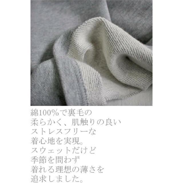 antiqua(アンティカ)の新品未使用 antiqua アンティカ ミニ裏毛 Vネック トップス グレー レディースのトップス(トレーナー/スウェット)の商品写真