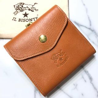イルビゾンテ(IL BISONTE)の新品 イルビゾンテ ガマ口 財布 ヤキヌメ ハンドメイド 二つ折り財布 ブランド(折り財布)