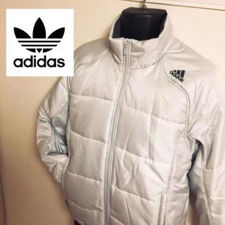 アディダス(adidas)の【未使用】adidas パールホワイト軽量中綿ブルゾン(ダウンジャケット)