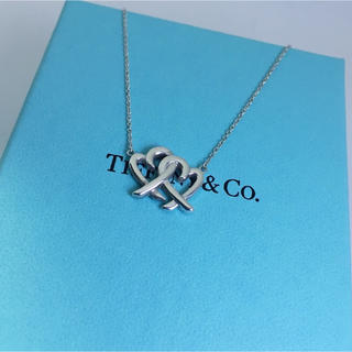 Tiffany & Co. - ティファニー ラビングハートインターロッキングペンダント ネックレス