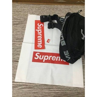 シュプリーム(Supreme)のレア 新品未使用【黒】 18ss supreme Waist Bag(ウエストポーチ)