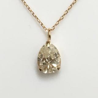 K18 ペアシェープ ダイヤモンドネックレス
