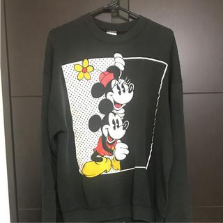 ディズニー(Disney)のミッキーミニー トレーナー 古着 レア(トレーナー/スウェット)
