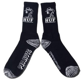 スヌーピー(SNOOPY)の新品 HUF Spike Needles Crew Socks 黒 スヌーピー(ソックス)