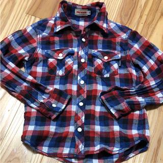 mikihouse - ミキハウス 110 チェックシャツ ネルシャツ