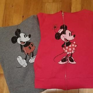 ディズニー(Disney)のディズニーリゾート 耳つきパーカー S 2枚セット(パーカー)