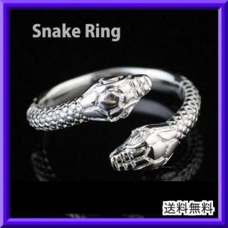 116 スネーク シルバー リング 白蛇  開運 金運UP  925 刻印 指輪(リング(指輪))