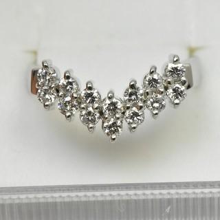 専用です Pt900 プラチナ V字 ダイヤモンドリング 8号 指輪  (リング(指輪))