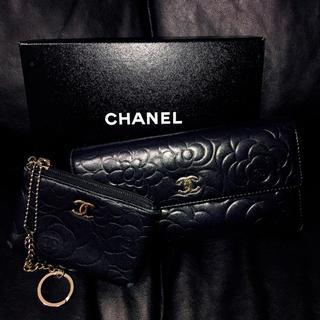 CHANEL - 【2点セット】CHANEL カメリア 財布 コインケース