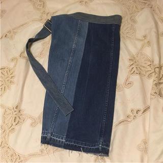 malion vintageデニムラップスカート(ひざ丈スカート)
