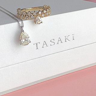 TASAKI - 半額 TASAKI 大粒ダイヤモンドネックレス 0.8ct ペアシェイプ