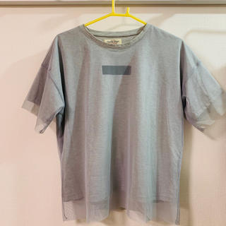 ダブルネーム(DOUBLE NAME)のチュールTシャツ(Double name)(Tシャツ(半袖/袖なし))