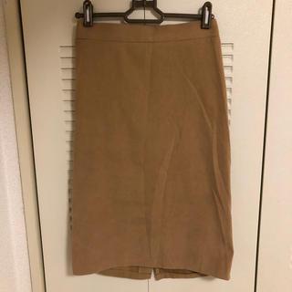 グレイル(GRL)のGRL ピーチスキンタイトスカート キャメル(ひざ丈スカート)
