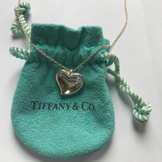 Tiffany & Co. - 【試着のみ ほぼ未使用】ティファニー カーブドハートネックレス★
