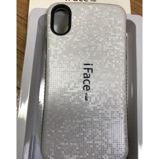 11964df7b7 ラメ版iFace mall iPhoneXハードケース ホワイト(iPhoneケース)