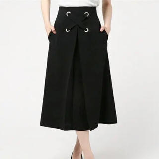 ルシェルブルー(LE CIEL BLEU)のLE CIEL BLEU ビッグレースアップフロウスカート(ひざ丈スカート)