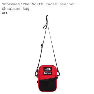 シュプリーム(Supreme)のsupreme north face leather shoulder red(ショルダーバッグ)