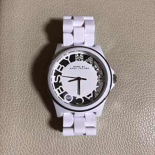 マークバイマークジェイコブス(MARC BY MARC JACOBS)のマークバイマークジェイコブス 腕時計 ホワイト スケルトン(腕時計)