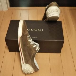 グッチ(Gucci)のグッチGUCCIローカットレザースエードシューズスニーカー26.5㎝ 8*1/2(スニーカー)