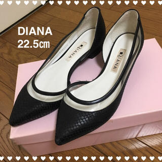 DIANA - 【美品】DIANA ローヒールパンプス フラットシューズ 22.5㎝