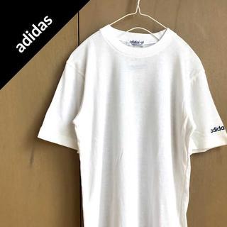 アディダス(adidas)のアディダス 【1974-83's】 ワンポイントロゴ Tシャツ デッドストック(Tシャツ/カットソー(七分/長袖))