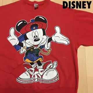 ディズニー(Disney)の#3733 DISNEY ディズニー 90s ミッキー スウェット トレーナー(スウェット)