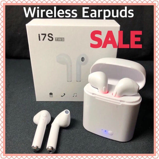 iPhone スマホ Airpods型 ワイヤレスイヤホン Bluetooth