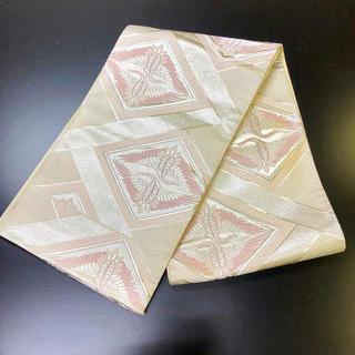 正絹。袋帯。ピンクの柄の素晴らしい帯(帯)