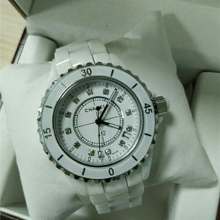 CHANEL - CHANEL シャネル J12 ホワイトセラミック 腕時計