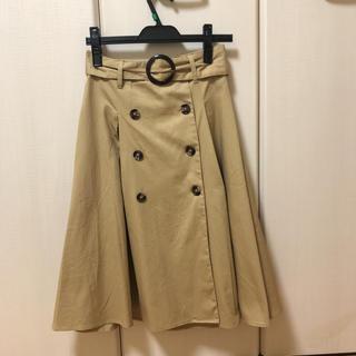 グレイル(GRL)のGRL ベージュスカート(ひざ丈スカート)