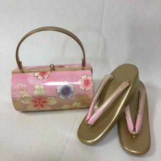 振袖用 草履バッグセット☆フリーサイズ 210(その他)