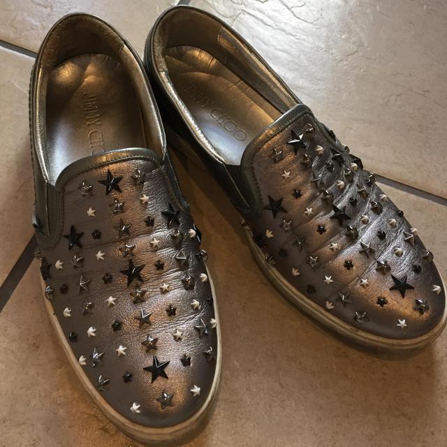 JIMMY CHOO(ジミーチュウ)のJIMMY CHOO スタッズスリッポン メンズの靴/シューズ(スリッポン/モカシン)の商品写真