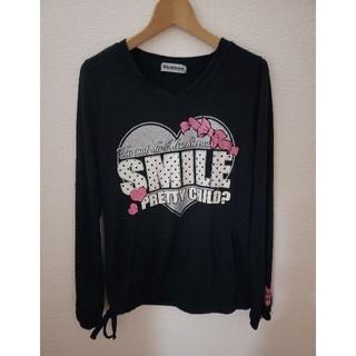 シマムラ(しまむら)の黒ロンT★サイズ160(Tシャツ/カットソー)