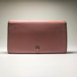 シャネル(CHANEL)のシャネル CHANEL 財布 長財布 ココマーク ココボタン ピンク イタリア製(財布)